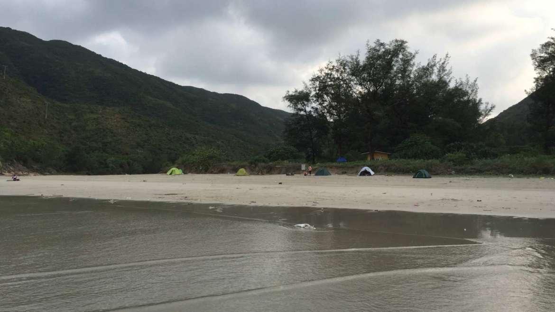 Camping in Sai Wan Beach, Sai Kung Peninsula, Hong Kong