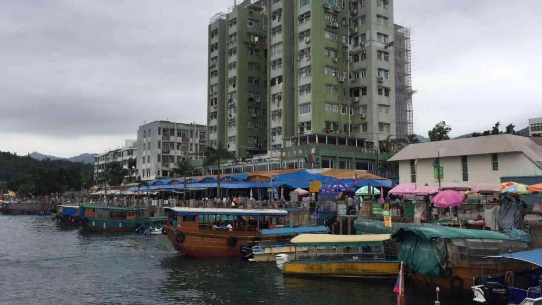 The main pier of Sai Kung, Hong Kong