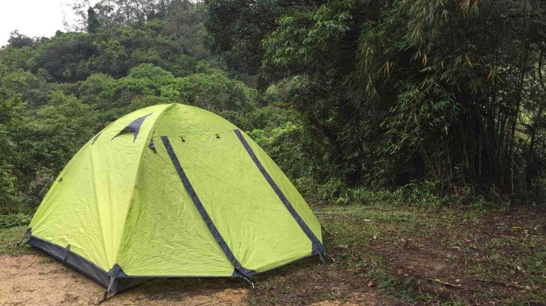 Camping in the forest, in Sai Kung Peninsula, Hong Kong