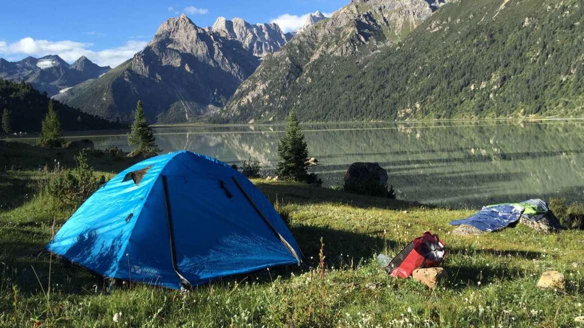 Best tents for explorers- camping at Yilhun Lha Tso Lake, Eastern Tibet