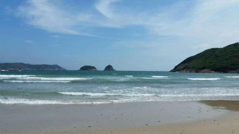 Sai Wan Beach, in Sai Kung Peninsula, Hong Kong