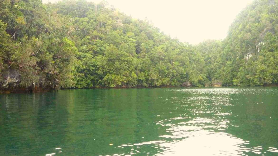 What to do in Siargao- explore Sugba Lagoon, in the western side of the island
