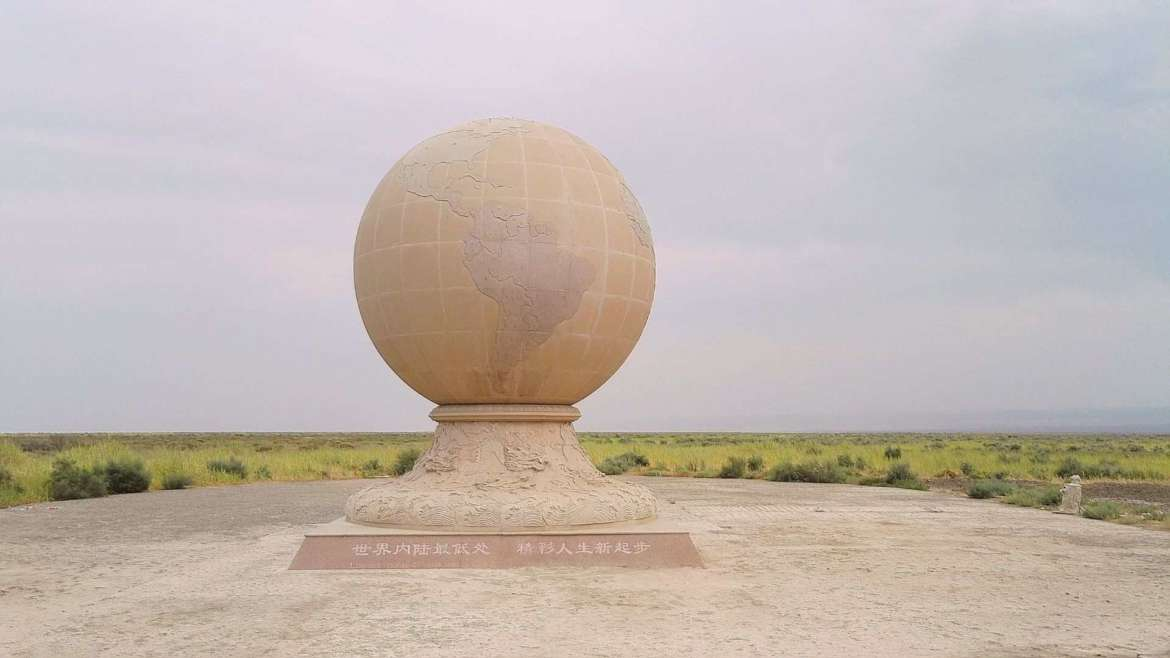Travel in Turpan- On the bottom of the Turpan Depression at Aiding Lake