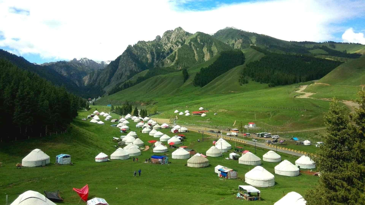 Xinjiang travel- Yurts in Tianshan