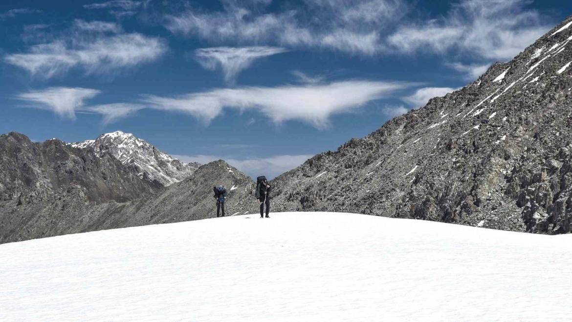 Trekking in Tianshan- on a high altitude area