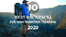 10 best backpacks for high mountain trekking'2020