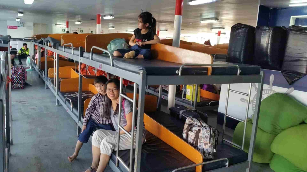 In the economy class of 2GO ferry from Batangas to Caticlan