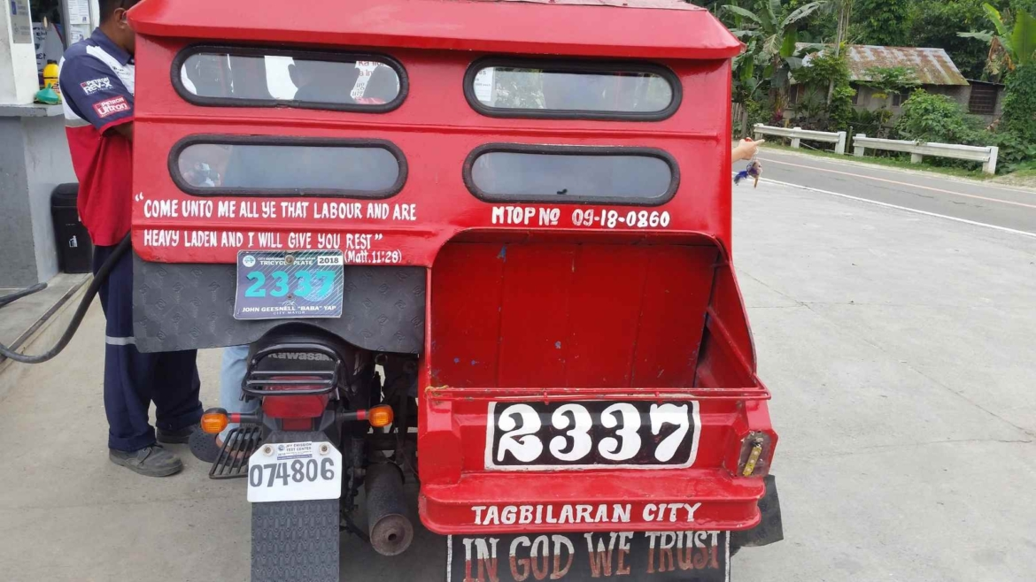 Our tricycle around Bohol