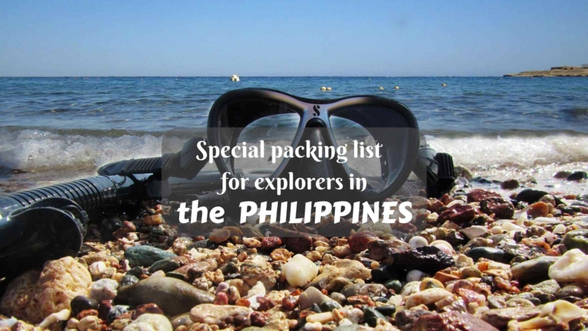 Special packing list for explorers in the Philippines