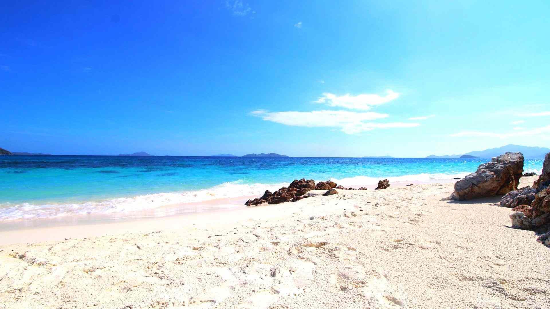 A beach on an island of Mindoro group