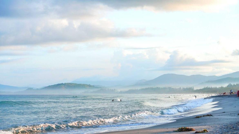The Pacific coast of Mindanao