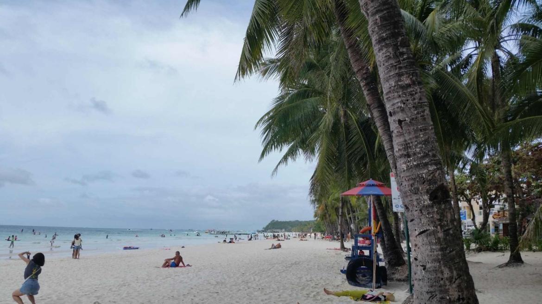 The beach in Boracay