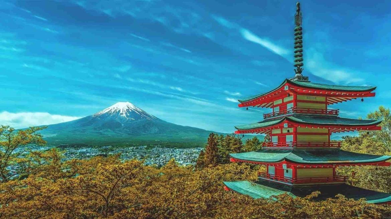 A landscape in Japan