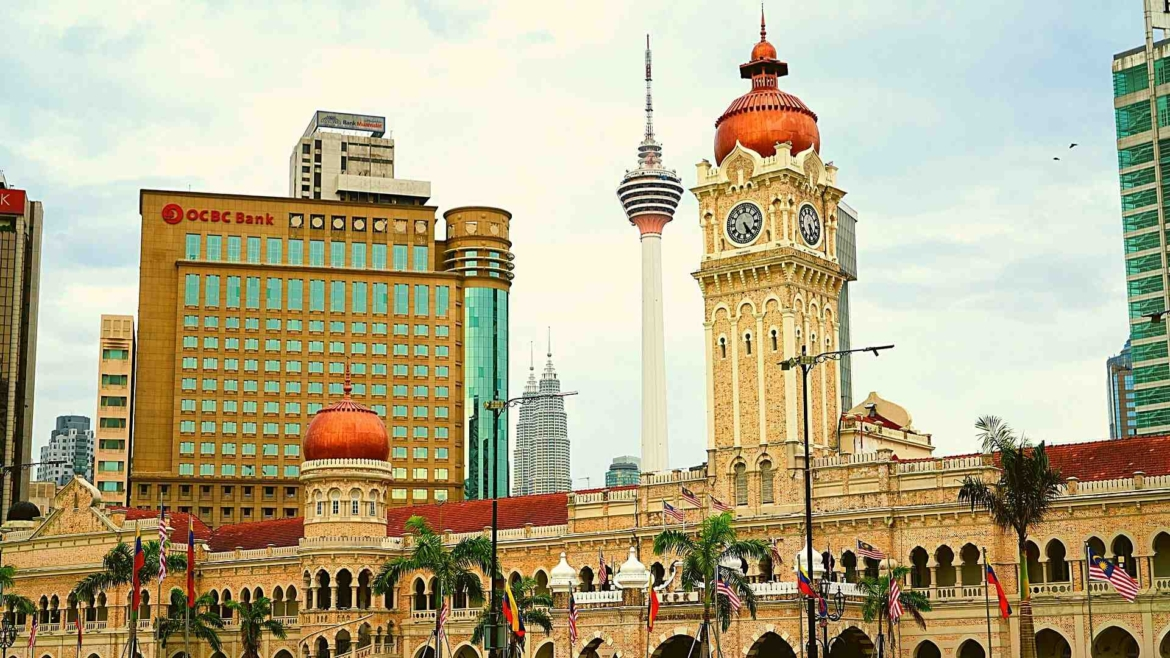 New and old buildings in Kuala Lumpur
