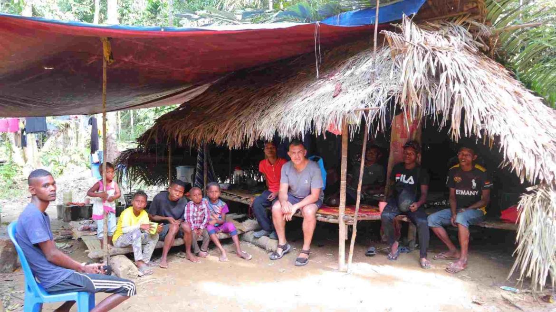 In an Orang Asli village, Taman Negara