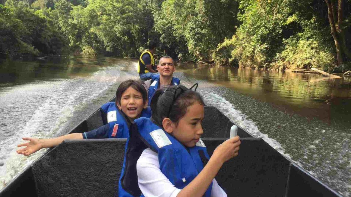 On a river boat cruise in Taman Negara