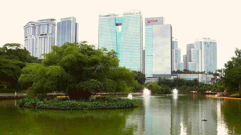 KL Sentral Point View in Perdana Botanical Gardens