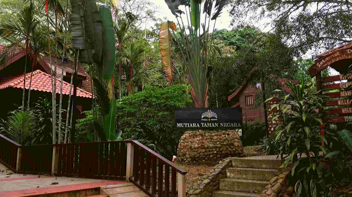 Mutiara Resort- the entrance of Taman Negara