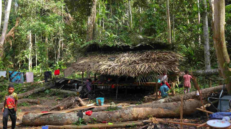 Orang Asli village of the Negritos tribe of Batek