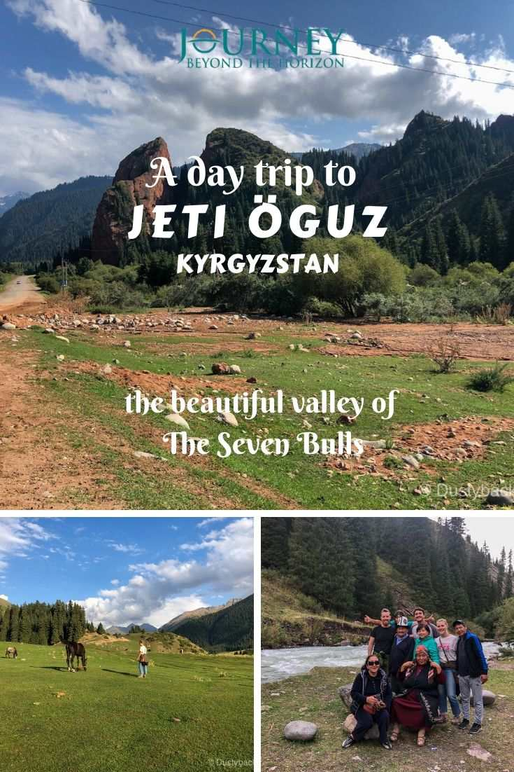 Let's make a day trip in one of the most fairy-tale places on the Earth- the valley of Jeti Oguz in Kyrgyzstan, and its Seven Bulls!