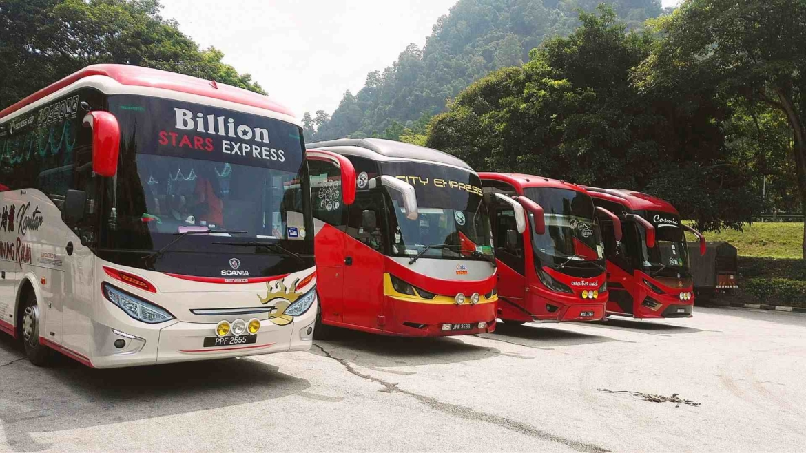 Bus transport is very popular around Peninsular Malaysia