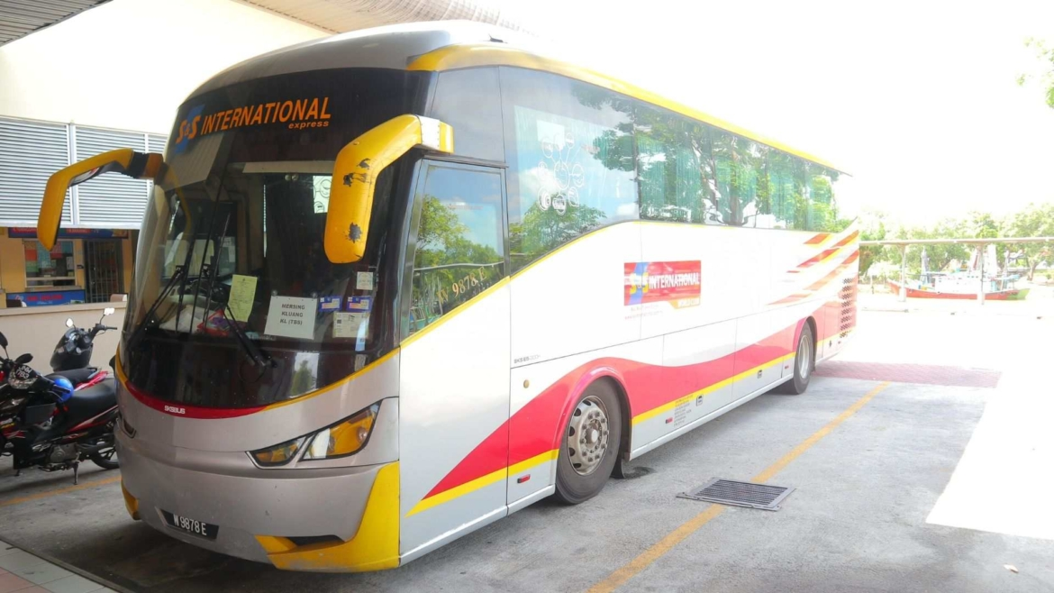 A bus in Mersing Bus Terminal