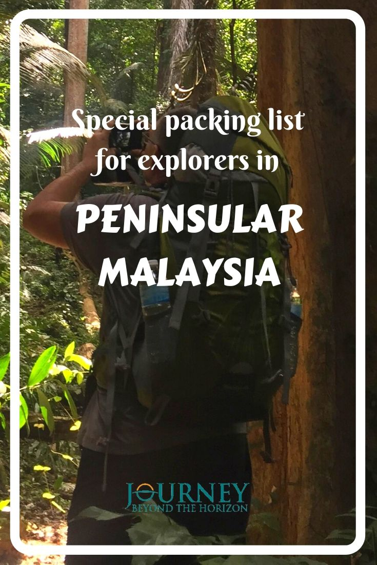 Check out this special packing list for explorers of the nature in Peninsular Malaysia! What to bring for hiking in the rainforests, high mountains or diving in the tropical sea!