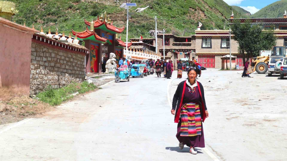 Tibetan woman in Eastern Tibet, China