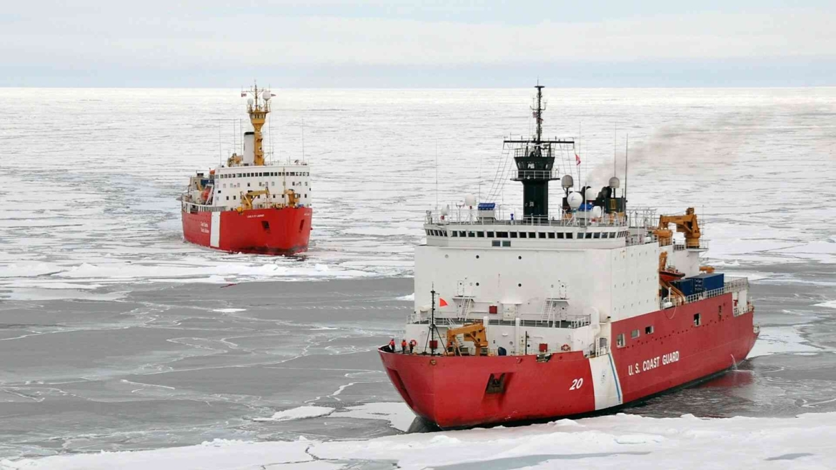 Traveling by icebreaker in the Arctic Ocean