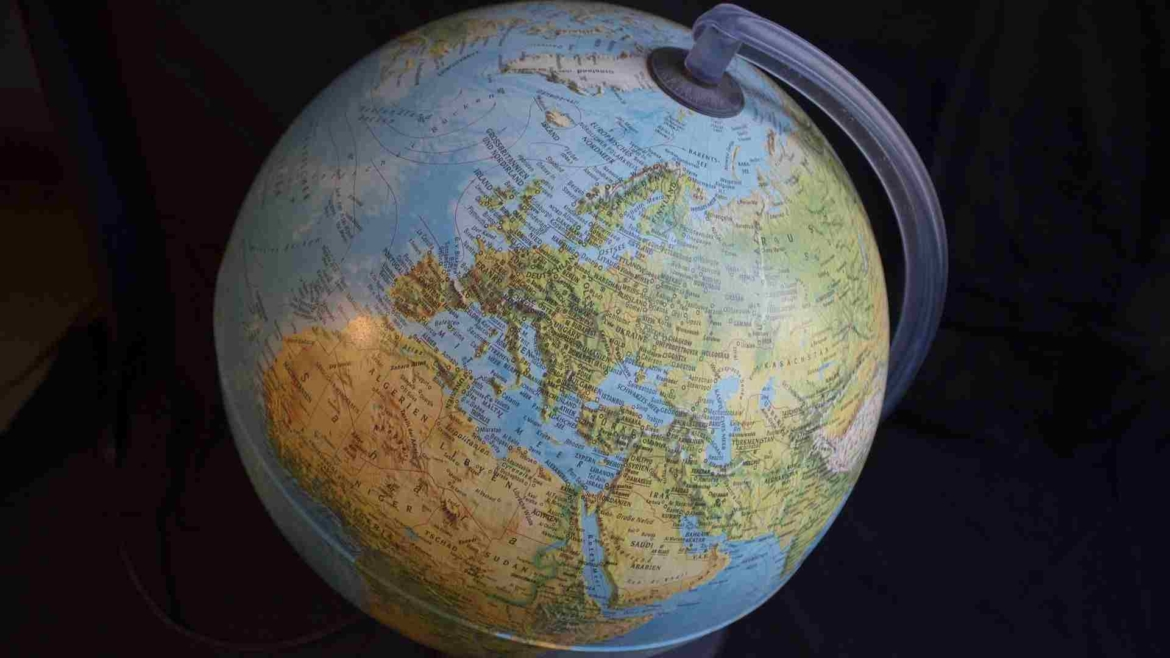 The globe of the Earth