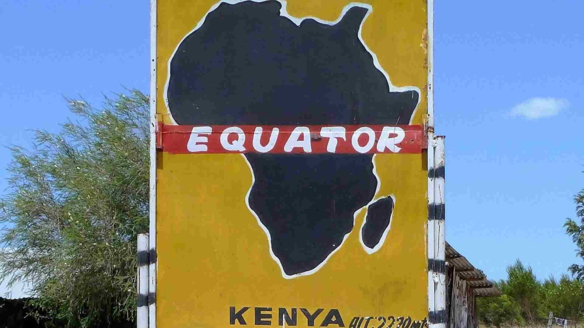 A sign on the Equator in Kenya