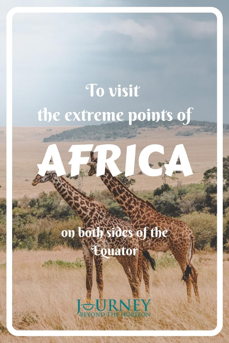 Let's explore Africa and reach its west, east, north, and south extreme geographic points, as well as its Pole of Inaccessibility!
