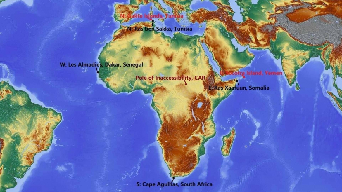 The extreme points of Africa
