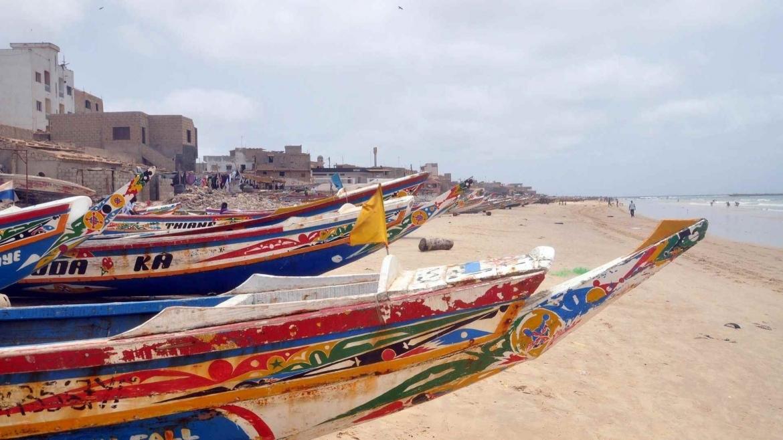 On the beach in Dakar