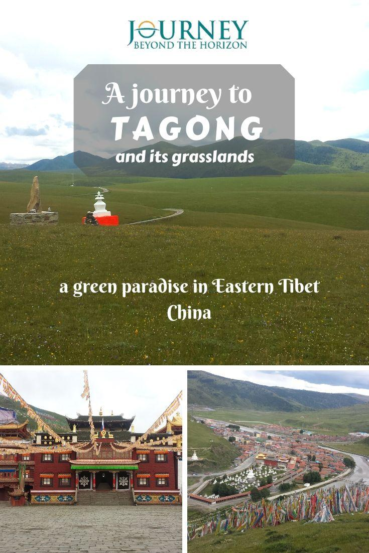Let's make a journey to Tagong, a small town in Eastern Tibet, China, located in the middle of a stunning grassland, in front of the magnificent Mt. Zhara (Yala)