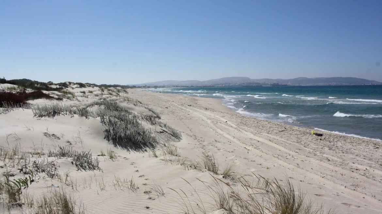 The Mediterranean coast of Tunisia near Bizerte