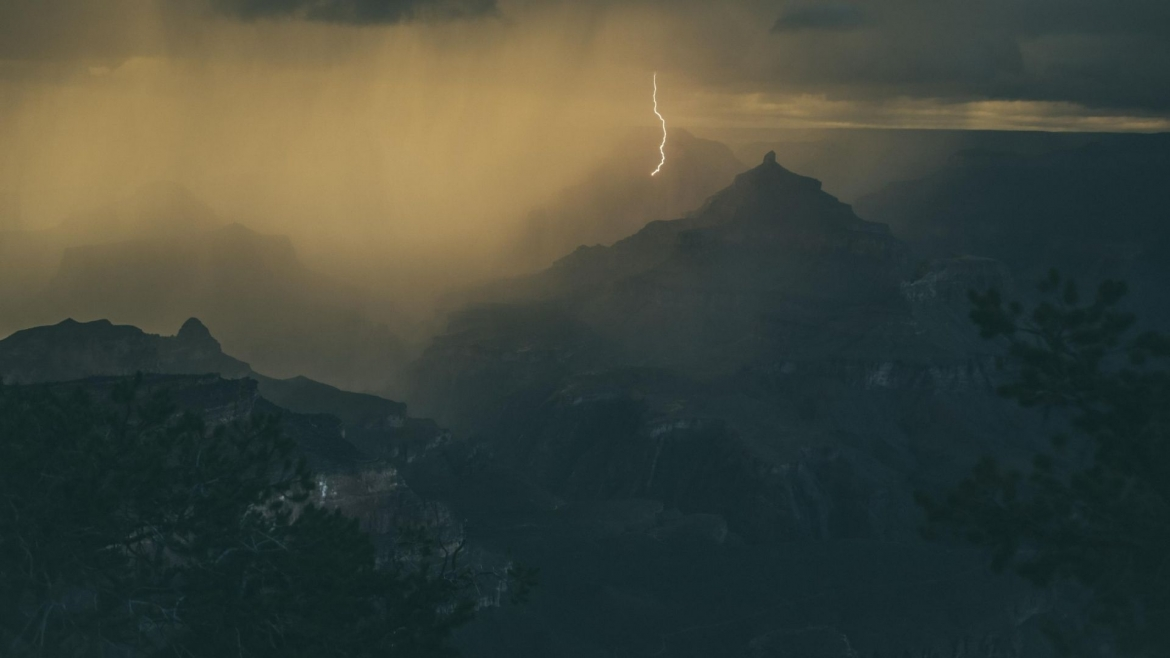 Thunderstorm in the mountain