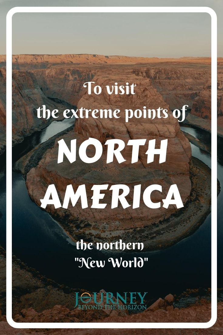 Let's explore the continent of North America- its extreme points on the west, east, north, south and in the middle! Geographical guide.