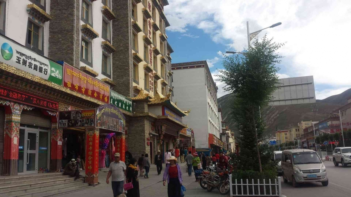 On the streets of Yushu