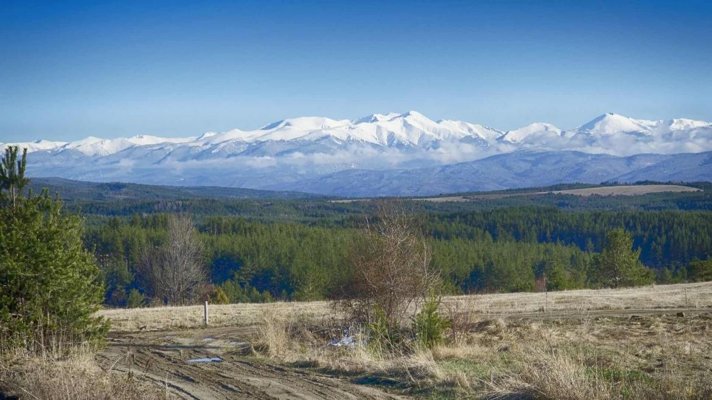 Approaching Rila Mountain from Sofia