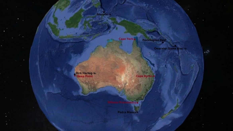 The extreme points of Australia