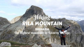 Hiking Rila Mountain, Bulgaria, the highest mountain in Easterh Europe