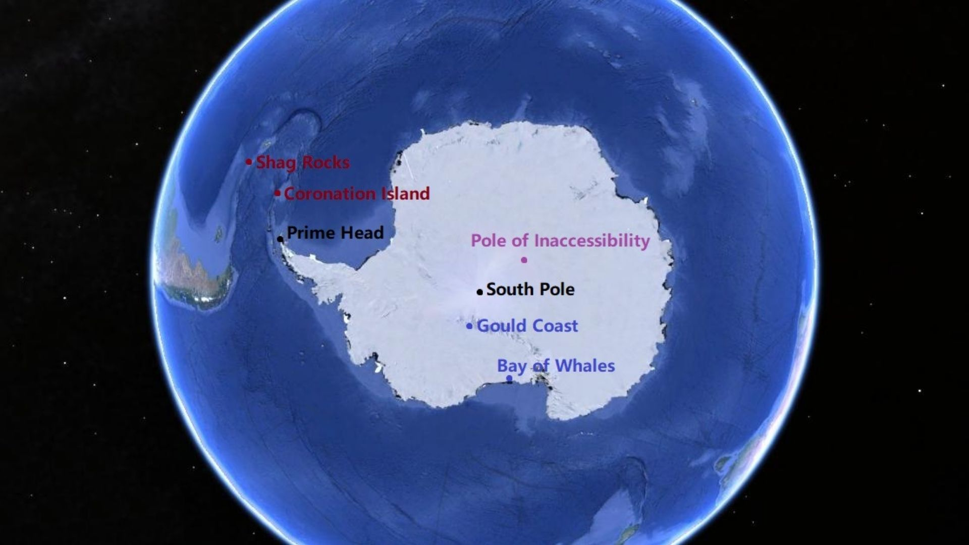 The extreme point of Antarctica