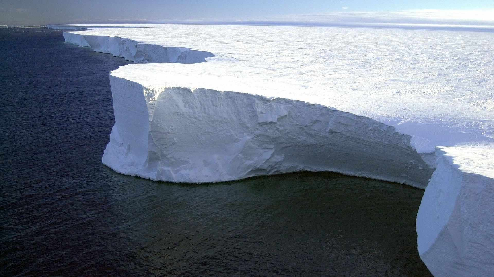 Where the ice shelf meets the ocean