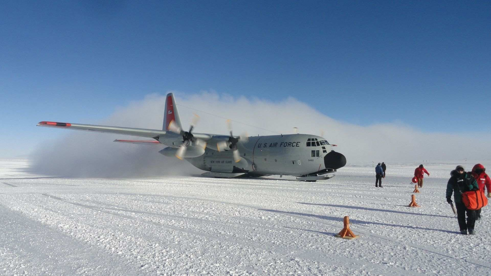 Landing on the South Pole
