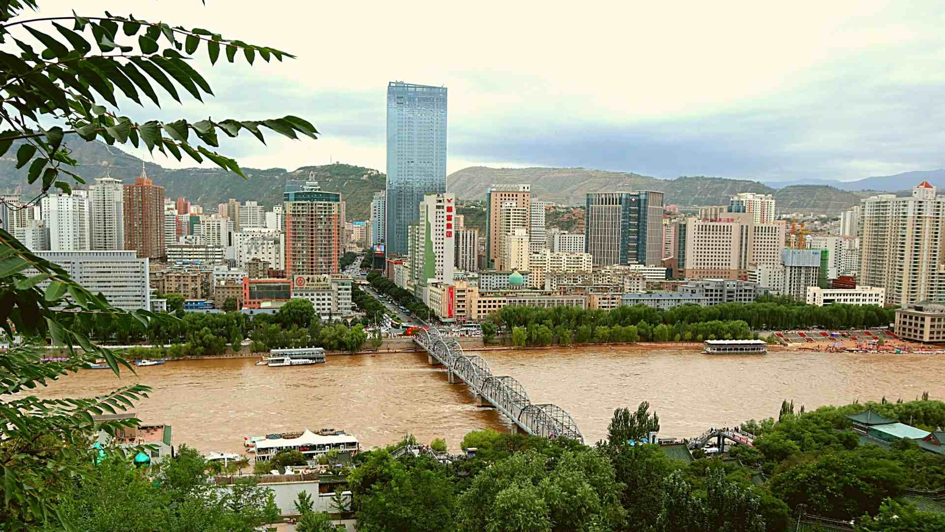 Lanzhou with Yellow River