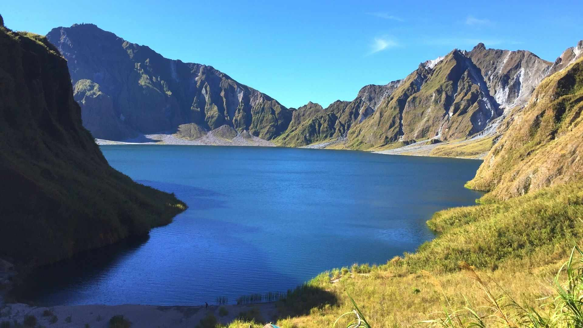 The crater lake of Mount Pinatubo